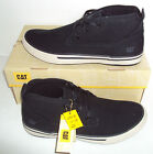 Caterpillar Men's Esteem Mid Canvas Hi Top Chukka Trainers Black Size UK 6