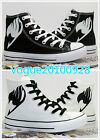 Fashion Animation Fairy Tail Cosplay Canvas Shoes Lovers Casual Shoes 2 Color