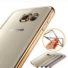 ShockProof Clear Rubber Plating TPU Soft Case Cover For Samsung Galaxy S7 / Edge