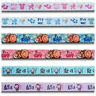 It's a Boy/Girl Blue/Pink Foot Prints Baby Shower Grosgrain Ribbon Cakes 1 Yard