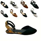Kyпить New Women Mary Jane Ankle Strap Ballet Flats Criss Cross Shoes Black,Taupe на еВаy.соm