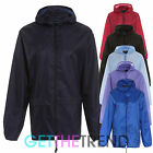 Unisex Plain RainCoat Mac Kagoul Jacket WaterProof Hooded Lightweight Adults