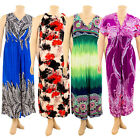 Womens Plus Size Printed Dress Long Maxi Sundress Boho Summe