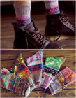 Men's Vintage Totem Ethnic Cotton Color Striped Casual Mid-Calf Length Socks