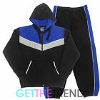 HOODED TOP AND BOTTOMS FLEECE LINED FULL TRACKSUIT TEENS PANEL TRACK SUIT SET