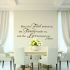 Bless The Food Wall Sticker Family Love Amen Quote Kitchen Vinyl Removable Decor