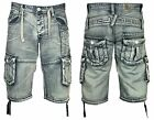 MENS NEW ETO SHORTS CARGO COMBAT STYLISH TRENDY ACID WASH SUMMER SIZE 28-48
