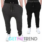 Mens Drop Crotch Skinny Joggers Slim Fit Stretch JogPants Bottoms Pants Trousers