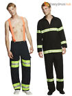 Adults Sexy Firefighter Costume Mens Fireman Fancy Dress Emergency Uniform Stag