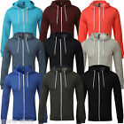 New Mens Soul Star Plain Fleece Long Sleeve SweatShirt ZipUp Jumper Hoody XS-XL