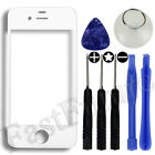 Front Screen Glass Lens Replacement Cover for iPhone 4 / 4S / White / Black