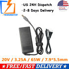 20V 3.25A 65W AC Adapter For IBM Lenovo ThinkPad Notebook Charger Power Supply