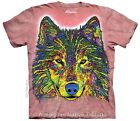 Russo Wolf  Pop Art Adults Wolves T-Shirt - Sizes 12, 16, 18, 22 & 24! NEW