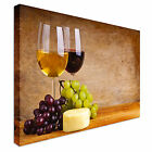 Wine Grapes and Cheese Art Canvas Wall Art prints high quality