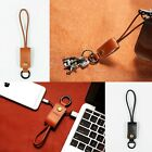 New REMAX Leather Key Ring USB Charger Sync Data Cable for iPhone 6/6S Plus 5S