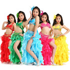 UK860# Kids Girls Belly Dance Costume (Top,Belt,Skirt) 8 Colors