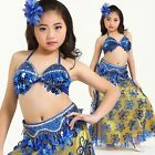UK803# Kids Girls Belly Dance Costume (Top,Belt,Skirt) 8 Colors