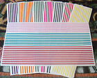 Creative Memories Great Lengths Sticker Strips~UChoose Lines Bright~Pastel~Jewel