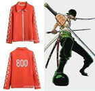 Newest One Piece OP/ Usopp Orange Cosplay Costume Hoodie Coat Jacket