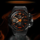 Casual Cool Men's Stainless Steel Military Analog Sport LED Digital Quartz Watch