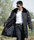 Man Winter Black overcoat long thick cashmere coat Mens Wehrwacht military coat