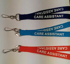 5 x CARE ASSISTANT Safety Breakaway Neck Strap Lanyards: 3 Colours Available!