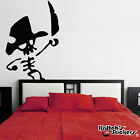 Pirate Skeleton with Sword Vinyl Wall Decal - nautical theme kid room art K017-W