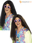 Adult Long Hair Hippy Wig Men Ladies Frizzy Fancy Dress Accessory 60s 70s Hippie