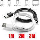1M/2M/3M USB Type C Data Sync Charger Charging Cable Lead For Nexus 5X/6P LG G5