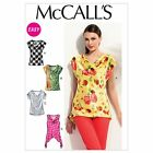 McCalls 6563 Easy Loose Drape Cap Sleeves Top XS-Plus Size Sewing Pattern M6563