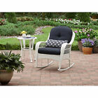 Rocking Chair Wicker Porch Deck Rocker W/Cushion Patio Furniture ASSORTED Colors