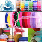 Quality Reels Sheer Edge Organza Ribbon Roll Long Lengths Width 10 17 26 & 38mm