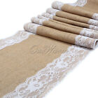 Lace Burlap Table Runner Rustic Wedding Supply Country Wedding Theme Event Decor