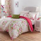 Catherine Lansfield Red Canterbury Duvet/Quilt Cover With Pillow Cases
