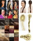 "NEW LADIES CELEBRITY CLIP IN PONYTAIL 22"" BRAID PLAIT FISHTAIL HAIR EXTENSION"
