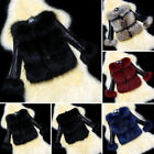 Womens Faux Fur Jacket Coat Winter Synthetic Leather Outerwear Parka S-3XL Sexy