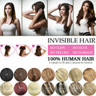 Halo Invisible 100% human hair extensions one piece,Wire Headband 20inch 80g 100