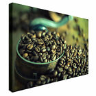 Roasted Coffee Beans Spilled Canvas Wall Art prints high quality
