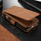 Genuine Leather Magnet Wallet Card Multifunction Case Cover For iPhone 6 6S Plus