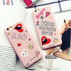 Hot Lovely fresh Pink lips dessert MS Girls soft Case cover for iphone 7 6S plus