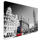 Red bus London Big Ben black & white Canvas Wall Art prints high quality