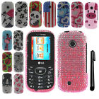 For LG Cosmos 3 VN251S Cosmos 2 VN251 DIAMOND BLING HARD Case Phone Cover + Pen