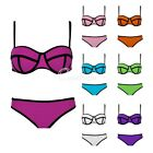 Lady's Sexy Women Bathing Polyester Triangle Bikini set Swimsuit Beachwear S-XL