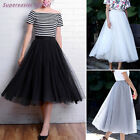 Women Tulle Tutu Skirt Solid Long Skirts Free Size 3 Layers + Lining 2016 Summer