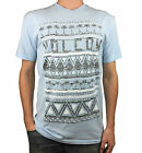 VOLCOM. Mens Short Sleeve Logo T-Shirt. Hawaiian Blue / Grey. Size Medium.