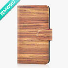 Hot Colorful Wood Design PU Leather Flip Case Cover For LG Google #07