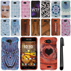 For Kyocera Hydro Wave C6740 Air C6745 PATTERN HARD Protector Case Cover + Pen
