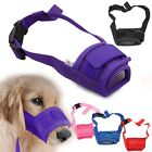 New Dog Pet Mouth Bound Device Safety Adjustable Breathable Muzzle Stop Bite US