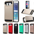 For Samsung Galaxy J5 Case Slim Hybrid Shockproof Card Holder Screen Protector