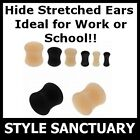 Silicone Flesh Plug Ear Lobe Retainer Tunnel Stretcher HIDE STRETCHED EARLOBES!